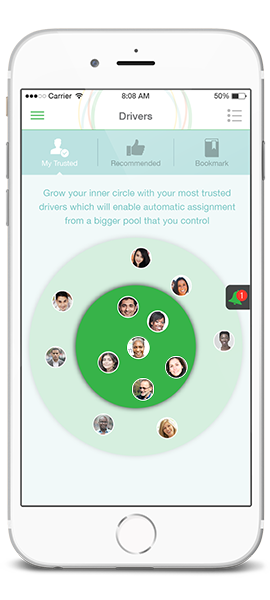 Build your circle of trusted drivers